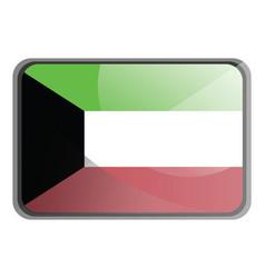 kuwait flag on white background vector image