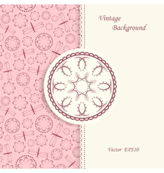 Lace background in vintage style vector image vector image