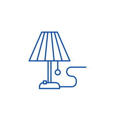 lamp line icon concept lamp flat symbol vector image