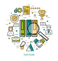 line art concept - case study vector image