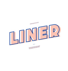 liner font bold style modern typography vector image