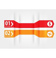 Modern Design template with numbered banners vector image