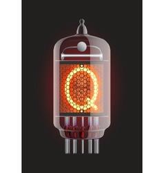 Nixie tube indicator vector
