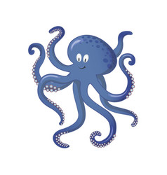 octopus sea animal cartoon for vector image