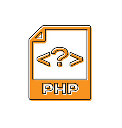 orange php file document icon download php button vector image