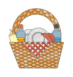 Picnic basket icon vector