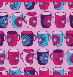 pink flower powermugs seamless pattern background vector image