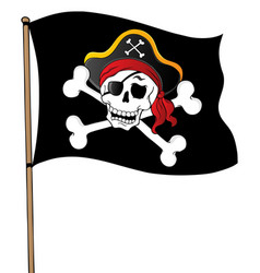 Pirate banner theme 1 vector