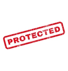 Protected Rubber Stamp vector