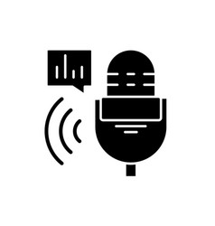 radio show black icon sign on isolated vector image