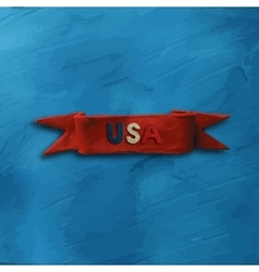 Red Ribbon with text USA vector image