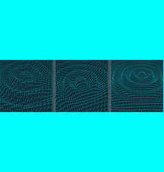 rippled background template 3d grid water surface vector image