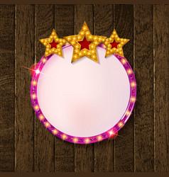 round blank cinema with three stars vector image