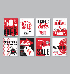 Sale banners set vector