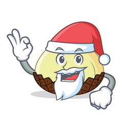 santa snake fruit mascot cartoon vector image