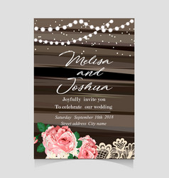 save the date invitation card with holiday vector image