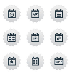 Set simple calendar icons vector