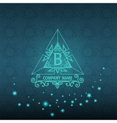 Shiny Corporate style card pattern logo vector image