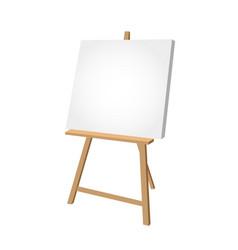 Simple easel on white background - artist vector