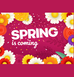 Spring is coming concept photoreal layered vector