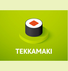 Tekkamaki isometric icon isolated on color vector