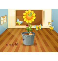 Various insects in a classroom vector