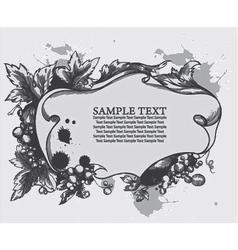 vintage floral frame with grunge vector image