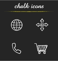 Web store icons vector