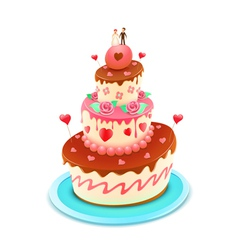 wedding cake vector image