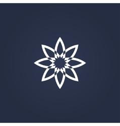 flower symbol vector image vector image