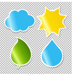 nature labels set vector image vector image