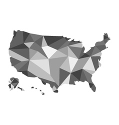 map of USA design polygon vector image
