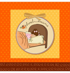 new baby girl arrived vector image