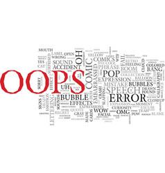 oops word cloud concept vector image vector image