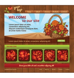 wood eco template site vector image