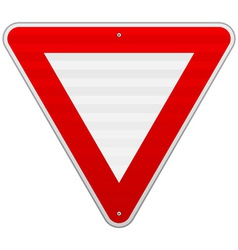 Yield Triangle Sign vector image vector image