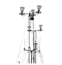 Antenna for transmitting and receiving radio vector image