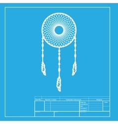 Dream catcher sign White section of icon on vector image vector image