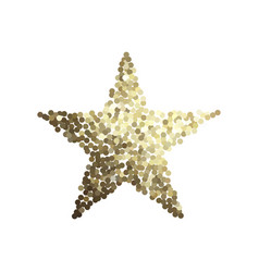 Golden star isolated on white background vector