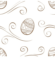Seamless easter background with eggs vector image