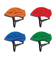 set of bicycle helmets vector image vector image