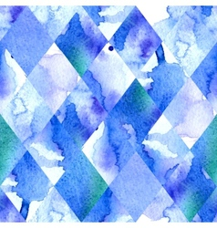 Watercolor geometric background vector image vector image