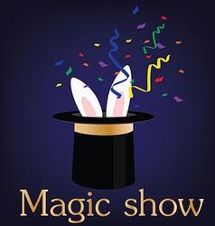 Magic show vector image