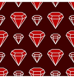 Ruby only pattern vector image