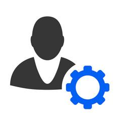 User options cog flat icon vector