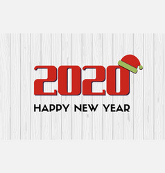 2020 happy new year greeting card with vector