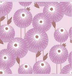 abstract geometric style fall flowers pattern vector image