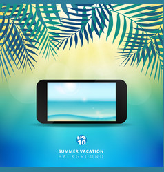 abstract summer time background with mobile vector image