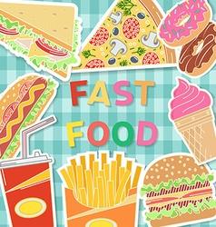 Banners of fast food designBurger in flat style vector image