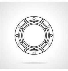 Bearing flat line icon vector image